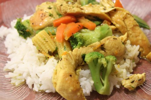 Gluten-free coconut curry