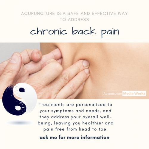 Acupuncture for low back pain treatment