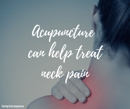 acupuncture and neck pain